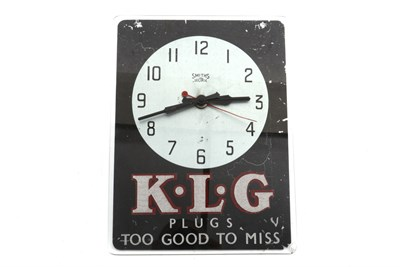 Lot 12 - A KLG 'Too Good to Miss' Advertising Clock