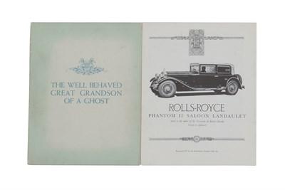 Lot 162-Rolls-Royce Sales Brochures