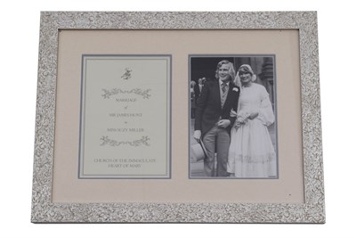 Lot 42-James Hunt / Suzy Hunt Original Wedding 'Order of Service', 1974