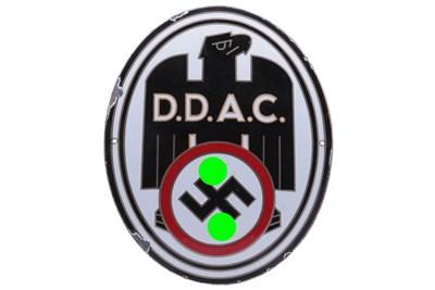 Lot 133-A Rare DDAC German Automobile Club Enamel Sign