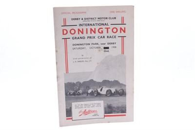 Lot 176-1938 International Grand Prix Programme (Signed)