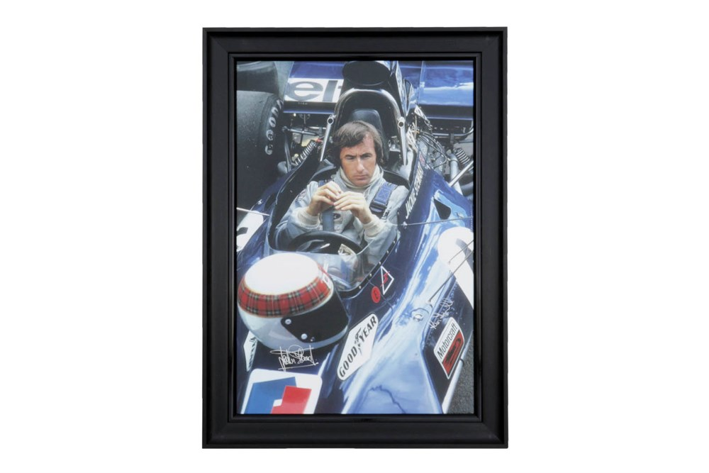 Lot 29 - Jackie Stewart in the Tyrrell-003 (Signed)