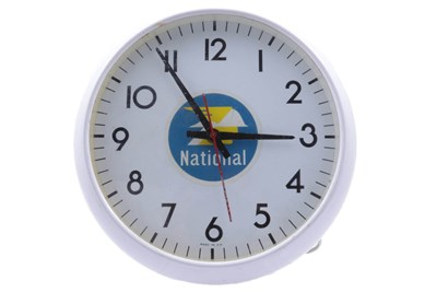Lot 52-A National Benzole Garage Advertising Clock