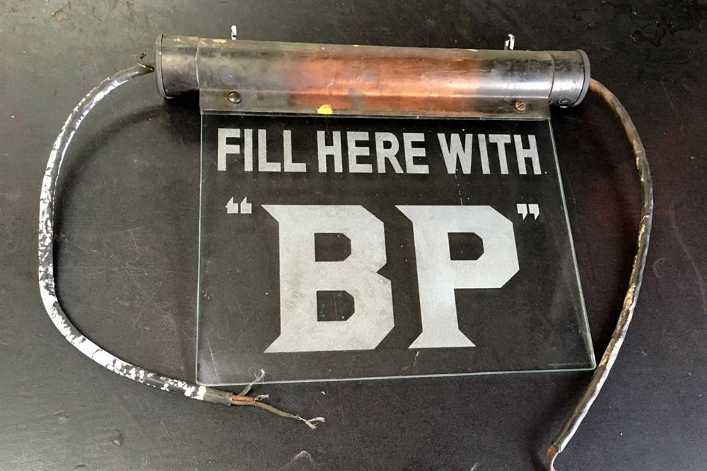 Lot 55-A Rare BP Illuminated Sign, 1930s