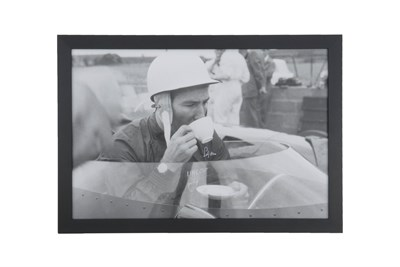 Lot 13-Stirling Moss 'Time For Tea at Aintree' (Signed)