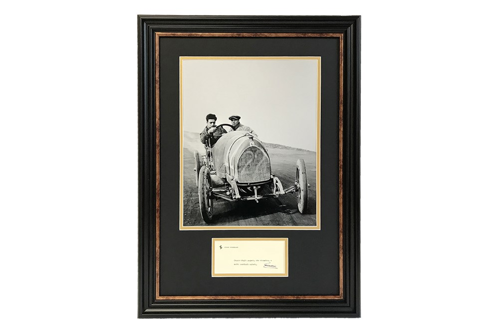 Lot 18-Enzo Ferrari Autograph Presentation (1898 - 1988)