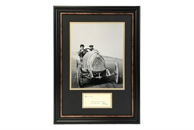 Lot 18 - Enzo Ferrari Autograph Presentation (1898 - 1988)