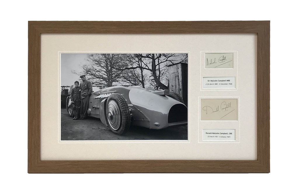 Lot 76 - Malcolm and Donald Campbell 'Father and Son' Autograph Presentation