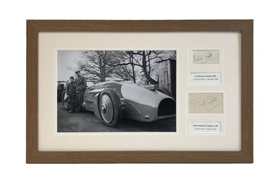 Lot 76-Malcolm and Donald Campbell 'Father and Son' Autograph Presentation