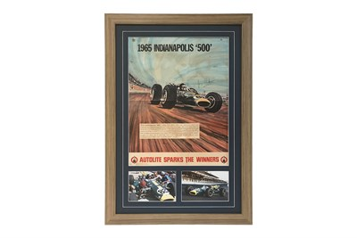 Lot 104-A Rare Jim Clark Indianapolis Poster, 1965 (Signed)