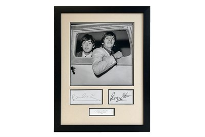 Lot 90-Ringo Starr and Paul McCartney Autograph Presentation