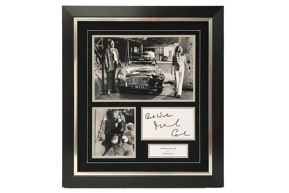 Lot 30-Michael Caine Italian Job Autograph Presentation