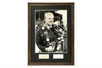 Lot 58-Mike Hawthorn Autograph Presentation (1929 - 1959)