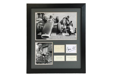 Lot 61 - Graham Hill and Damon Hill 'Father & Son' Autograph Presentation