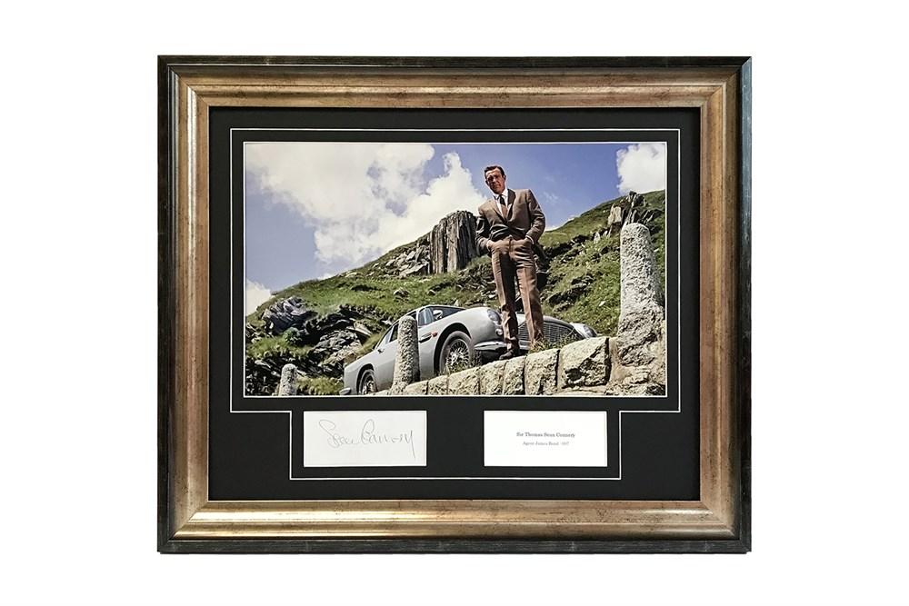 Lot 23-Sean Connery as James Bond Autograph Presentation