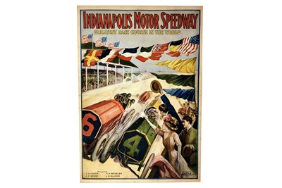 Lot 121-An Indianapolis Motor Speedway Advertising Poster