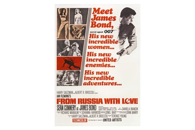 Lot 120-James Bond 'From Russia with Love' Movie Poster