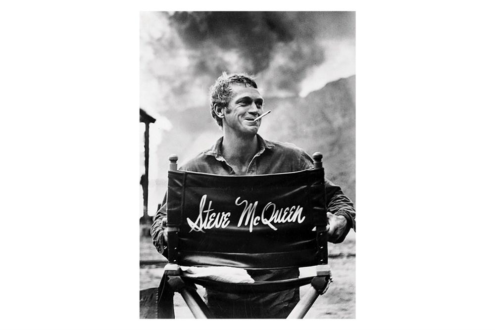 Lot 24-'McQueen in his Director's Chair'