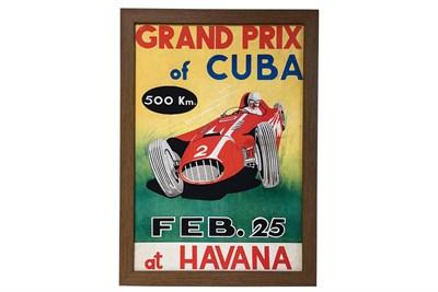 Lot 155-1958 'Grand Prix of Cuba' Poster