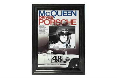Lot 99-An Extremely Rare Steve McQueen Signed Photograph