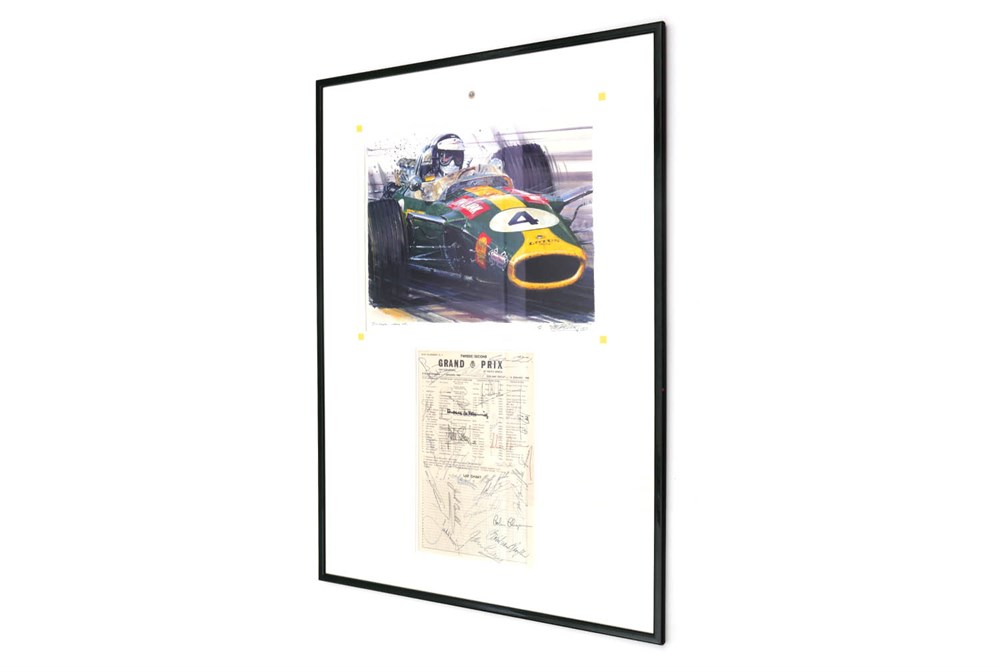 Lot 86-'A Tribute to Jim Clark' by Nicholas Watts