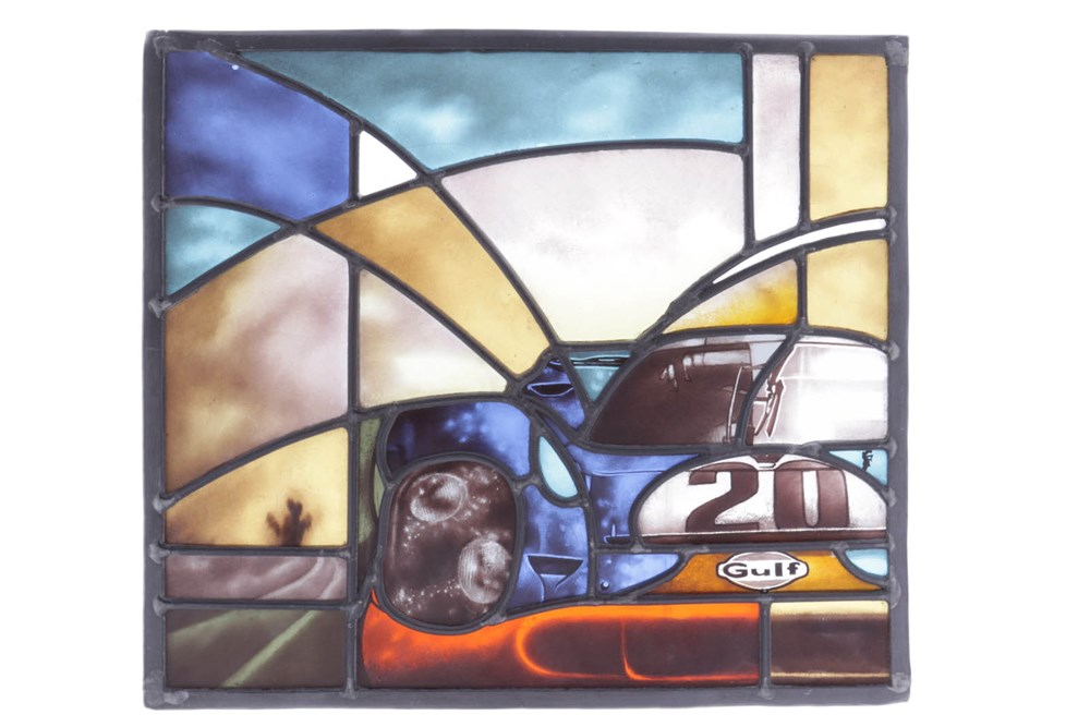 Lot 57-Porsche 917 Stained Glass Panel