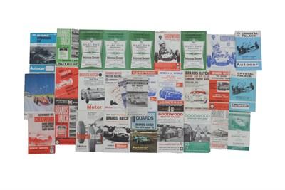 Lot 187-Quantity of Race Programmes