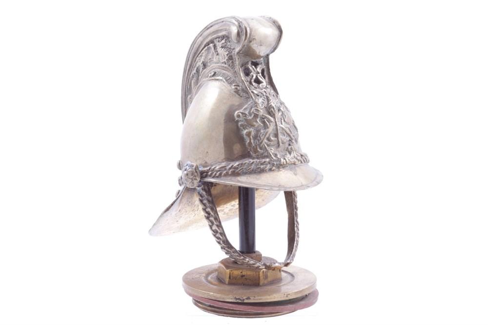 Lot 9-A Brass Fireman's Helmet Mascot