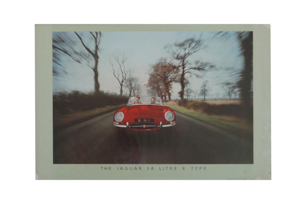Lot 81-A Rare Jaguar E-type Showroom Poster