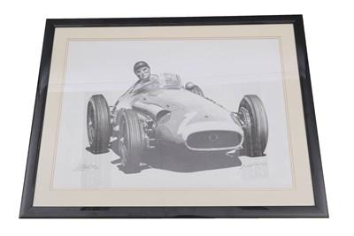 Lot 45 - Juan Manuel Fangio 1955 Signed Print
