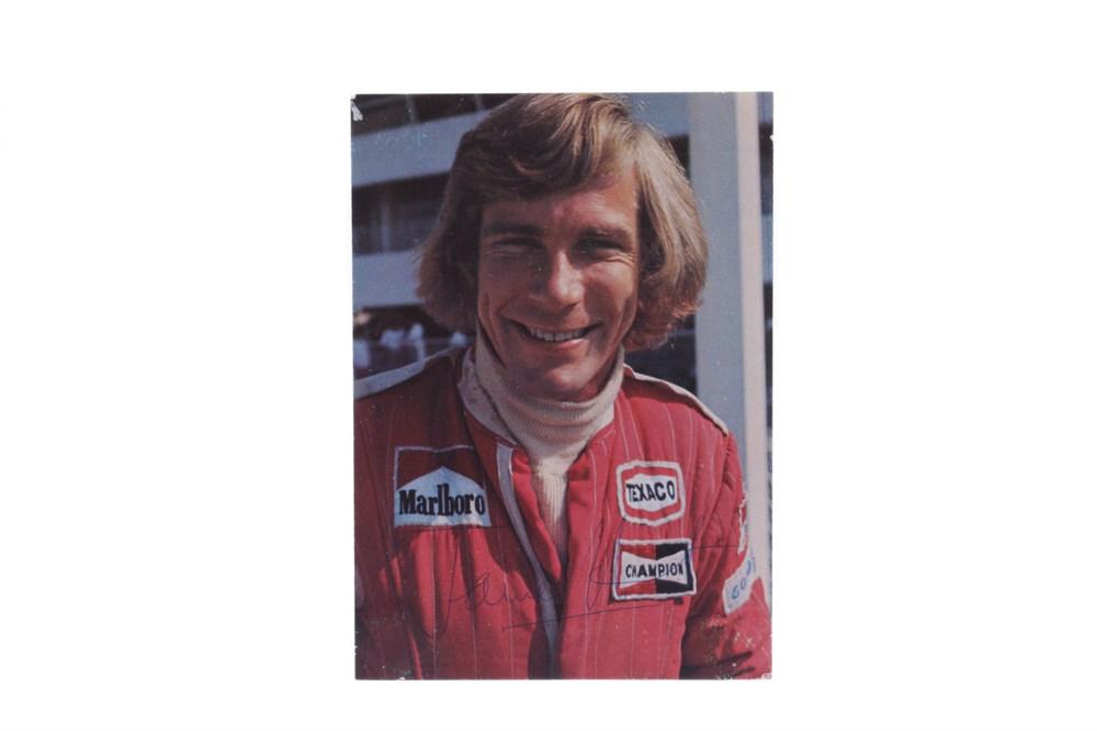 Lot 64-James Hunt Signed Publicity Card