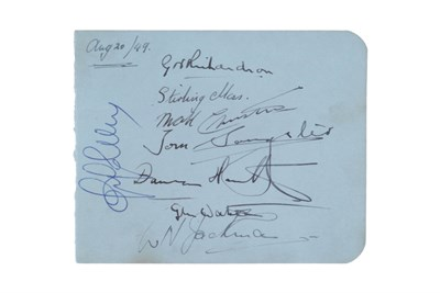 Lot 139-Autographs from the 1949 Silverstone GP