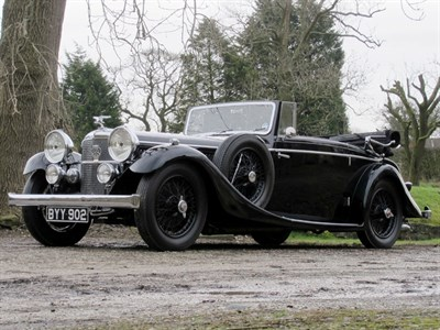 Lot 51-1935 Alvis Speed 20 SC Lancefield Drophead Coupe