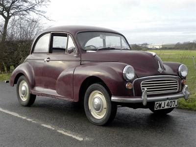 Lot 6 - 1970 Morris Minor 1000