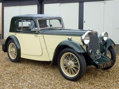 Lot 17 - 1933 Singer Deluxe Sports Nine Coupe