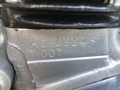 Lot 83-1969 Triumph T100T Daytona