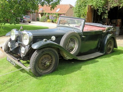 Lot 89-1934 Alvis Speed 20 SB Charlesworth Drophead Coupe