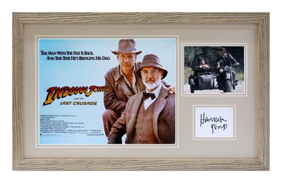 Lot 1 - Indiana Jones and The Last Crusade / Harrison Ford Autograph Presentation