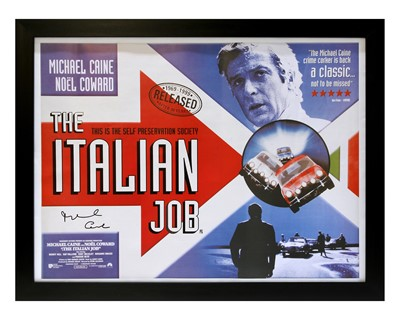 Lot 3 - The Italian Job / Michael Caine Movie Poster (Signed)