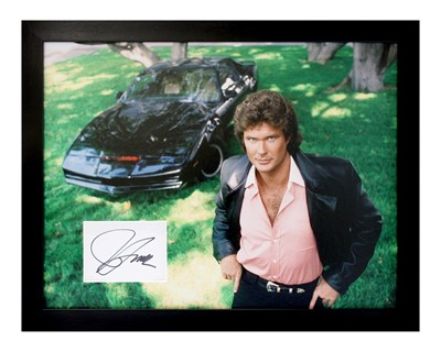 Lot 8 - Knight Rider / David Hasselhoff Autograph Presentation