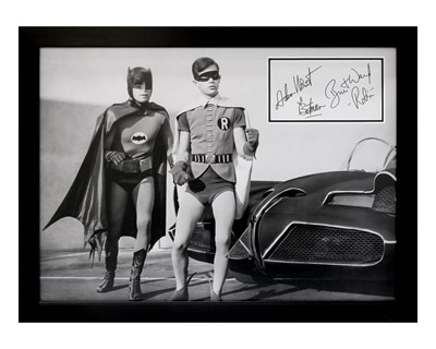 Lot 14 - Batman and Robin / Adam West and Burt Ward Autograph Presentation