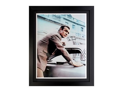 Lot 15 - Sean Connery and the Aston Martin DB5 (Signed)