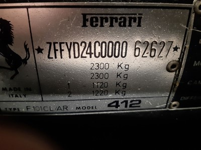 Lot 10-1986 Ferrari 412