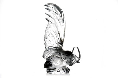Lot 14-'Coq Nain' Glass Accessory Mascot by Rene Lalique