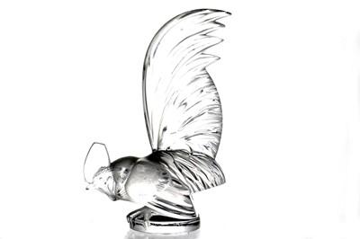 Lot 14-'Coq Nain' Glass Accessory Mascot by Rene Lalique