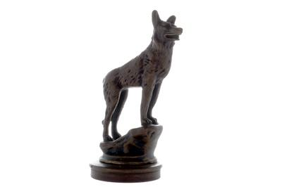 Lot 33-Standing Dog on Rocks Accessory Mascot