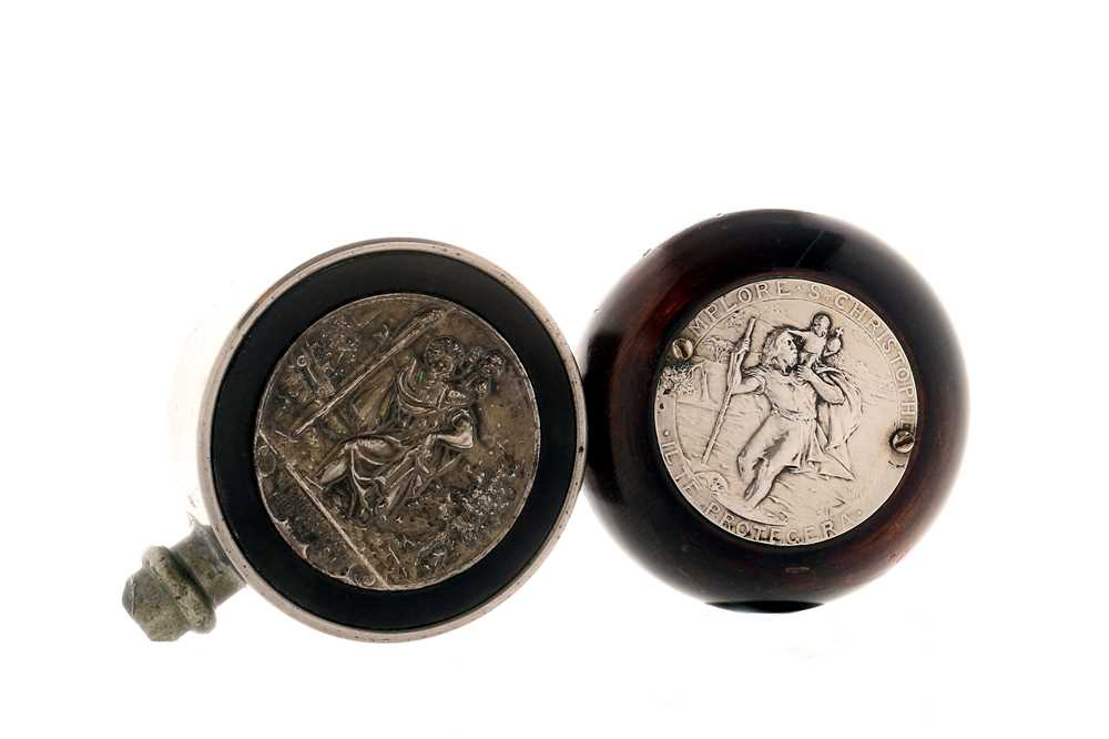Lot 76-Two St Christopher Dashboard Plaques