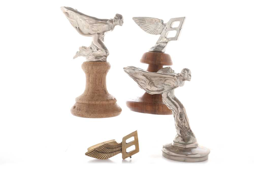 Lot 85-Four Rolls-Royce and Bentley Mascots