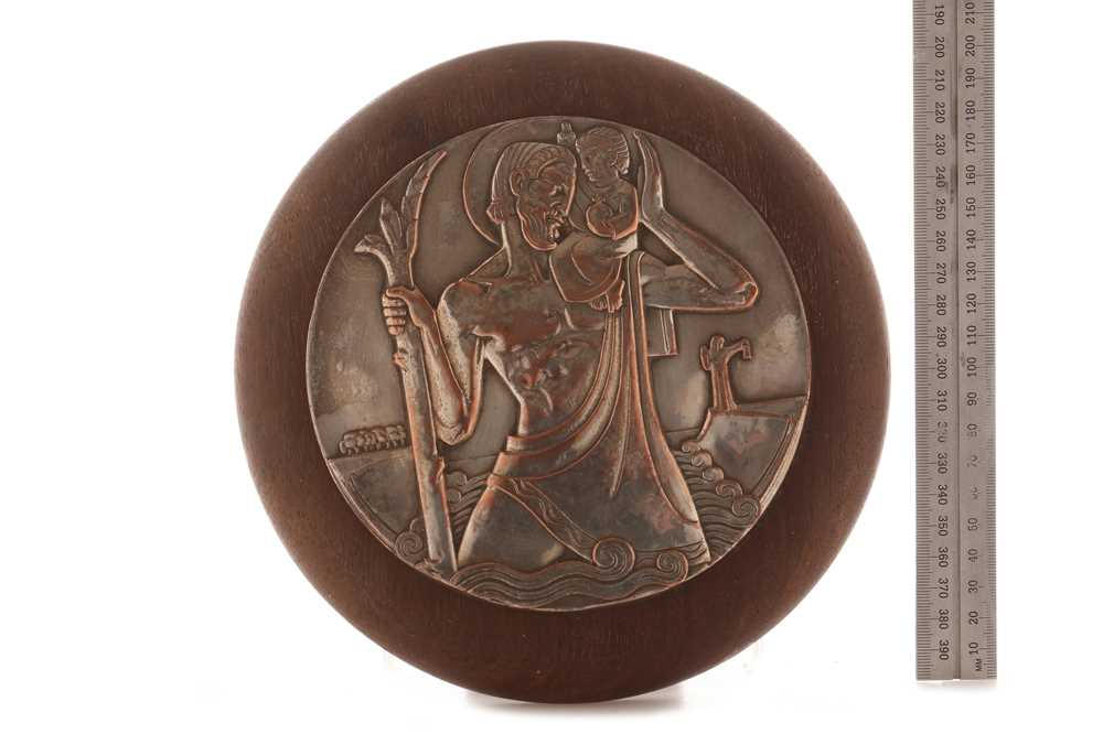 Lot 90-A Large St Christopher Wall Plaque