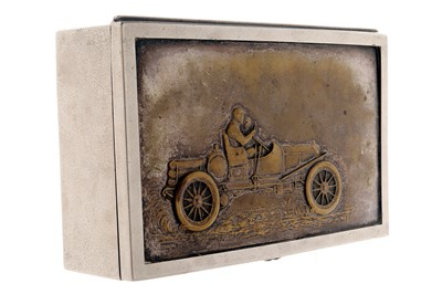 Lot 91-A Large Motoring Trinket Box